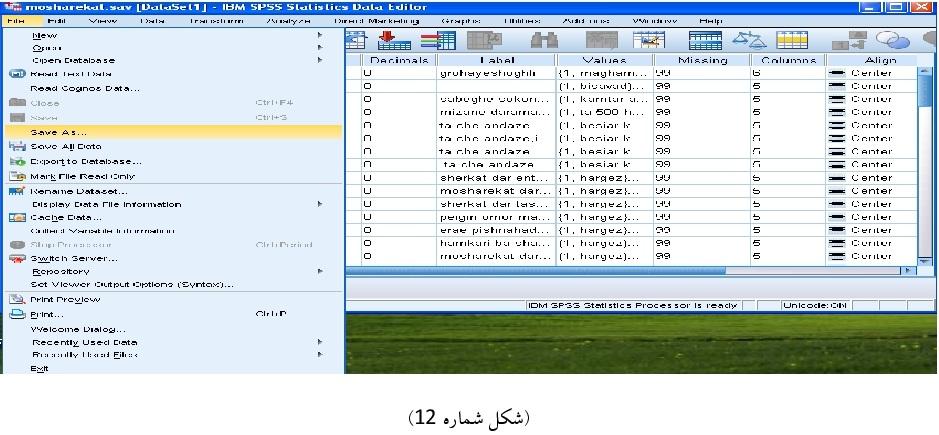 نحوه آماده سازی و ورود دادهها به نرم افزار smart pls